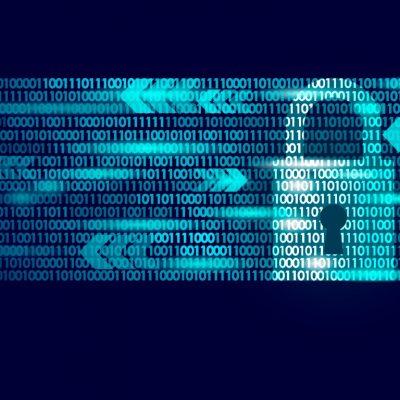 Cyber Awareness - padlock in bytes