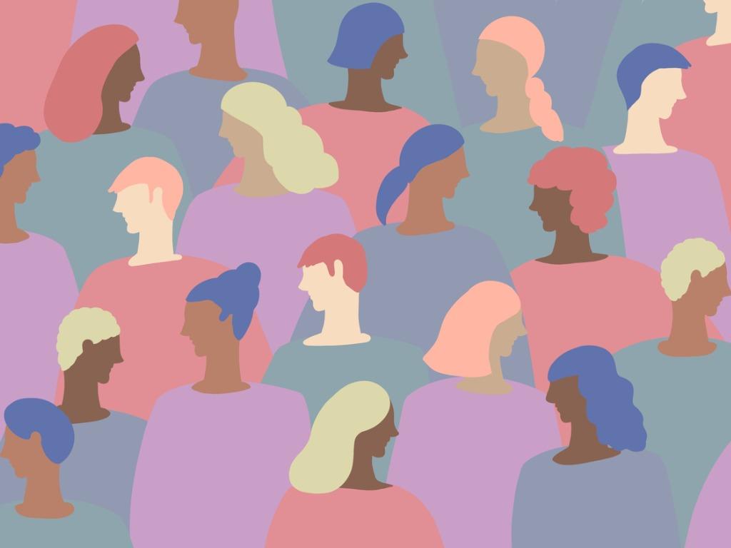 Self-empowerment: colourful heads