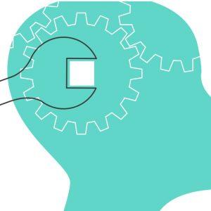 proactive mindset: spanner turning cog in brain