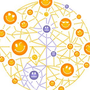 Acheive your best at work: intercnnected smiley faces